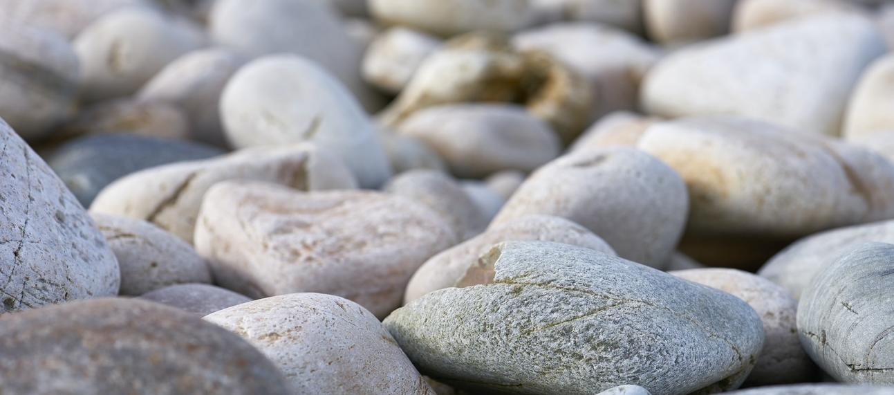close up of pebbles on a beach