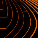 Abstract photo of copper lines on black background
