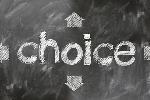 image of the word 'choice'