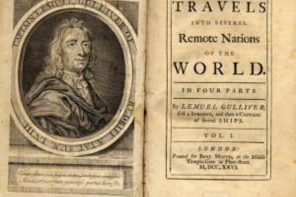 Cover of first edition of Gulliver's Travels