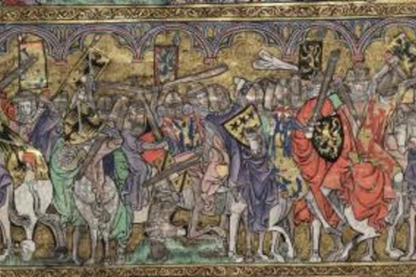 Battle scene from MS Bodl 264