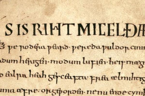 Anglo Saxon text