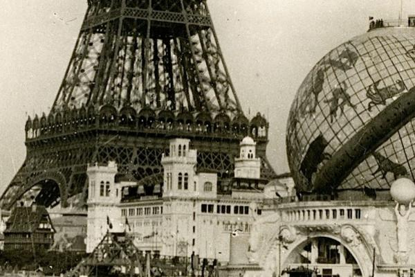 Eiffel Tower and globe