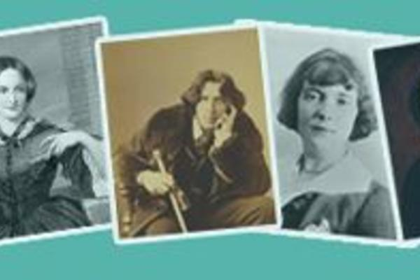 Collection of photos of authors who feature on great writers inspire website