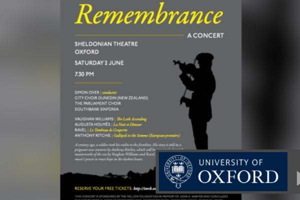 remembrance concert at sheldonian theatre
