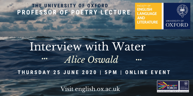 Alice Oswald lecture poster