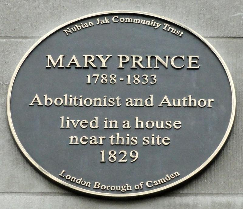 mary prince plaque