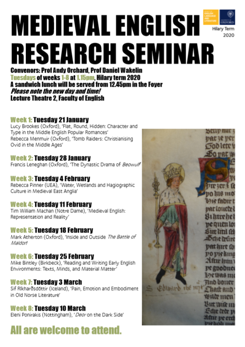 medieval english research seminar ht20