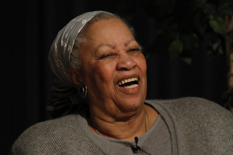 A laughing Toni Morrison from the West Point Lecture in 2013