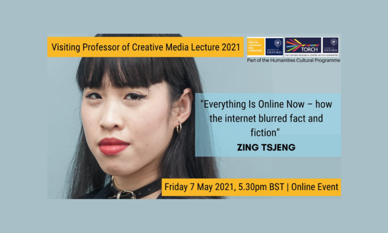 visiting professor of creative media lecture poster