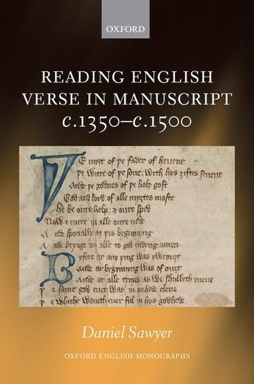 Reading English Verse in Manuscript book cover