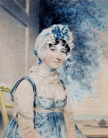 Painting of Maria Edgeworth by John Downman