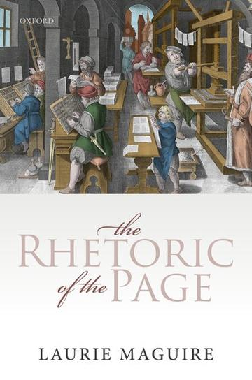 the rhetoric of the page book cover