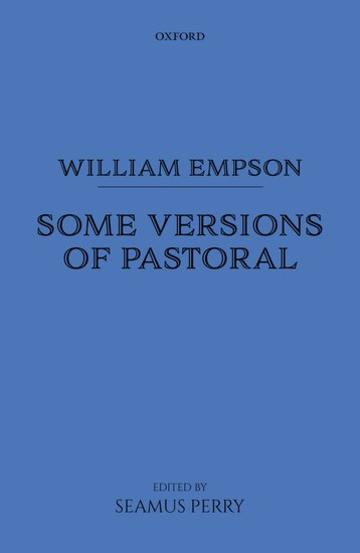 william empson some versions of pastoral book cover