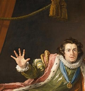 william hogarth painting of david garrick as richard iii
