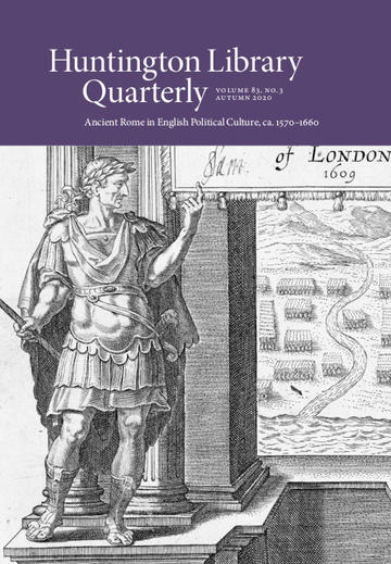 front cover huntington library quarterly