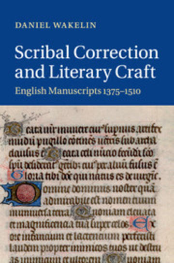 scribal correction and literary craft book cover
