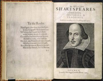 Shakespeare's First Folio Title Page