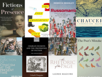 montage of books written by members of English faculty