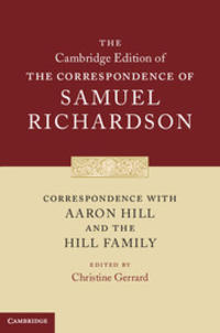 Cover of Correspondence with Aaron Hill and the Hill Family