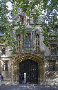 The entrance to St. John's College from St. Giles'