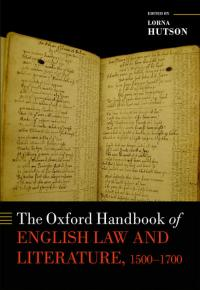 The Oxford Handbook of English Law and Literature